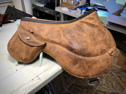 Crazy Horse Leather Bareback Pad