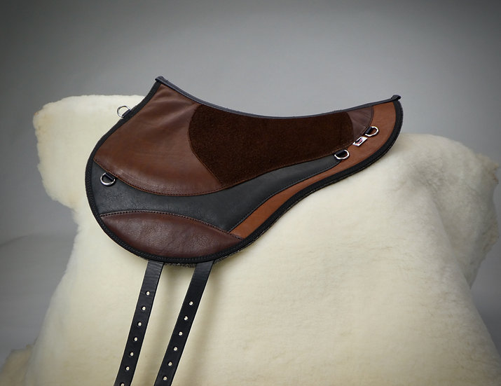 Trailmaster Original Style Hermann Oak Top Grain/Suede Leather Bareback Pad