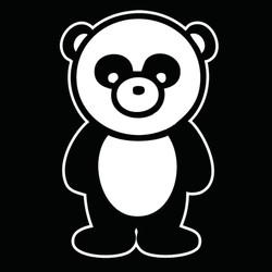 Ethan Spalding Panda Bear oversized prin