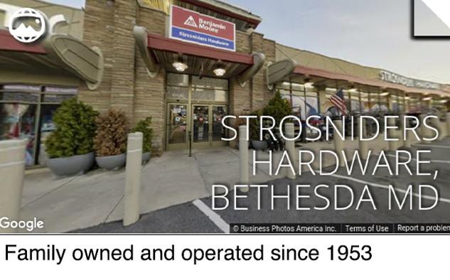 Strosniders Hardware, Bethesda MD