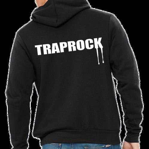 Traprock Text Zip Hoodie