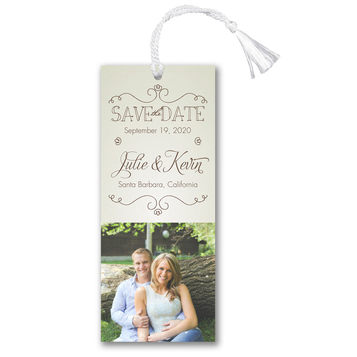 It's on the Books - Save the Date Bookmark