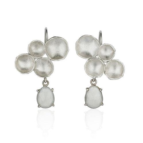 Flora Drop Earrings with Moonstone