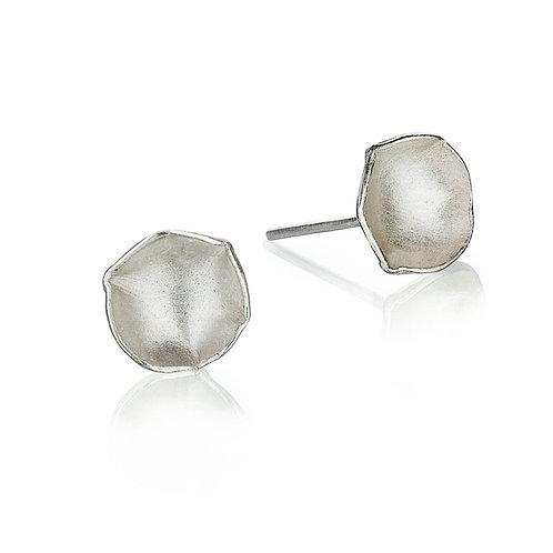 Flora Mini Silver Earrings