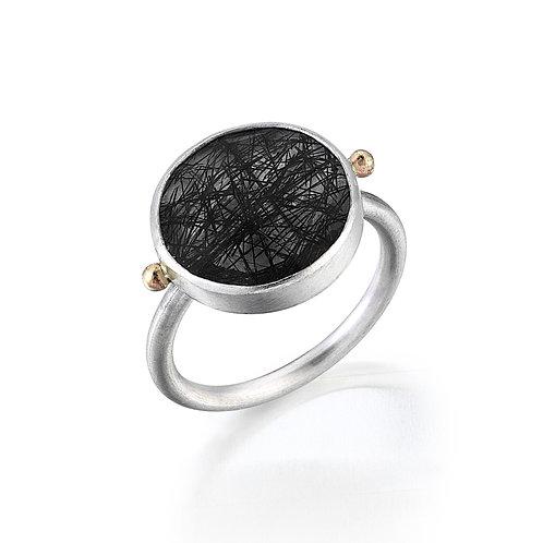 Pure Love Ring-Tourmalinated Quartz