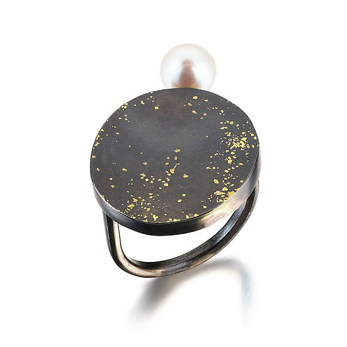 Cosmos Ring with Pearl