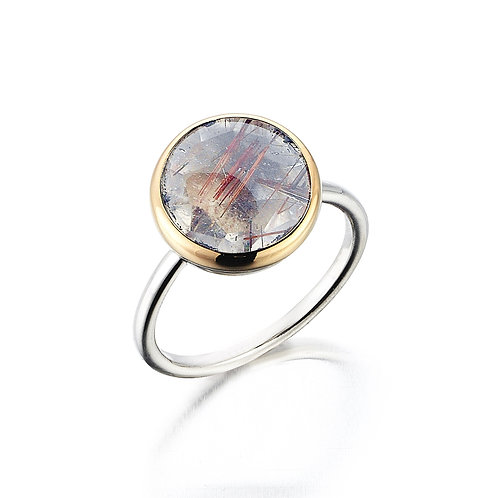 8K Ring with Routilated Quartz