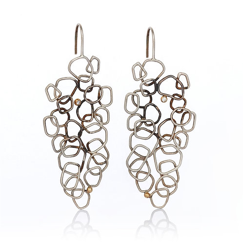 Winter Tale Earrings with Diamonds