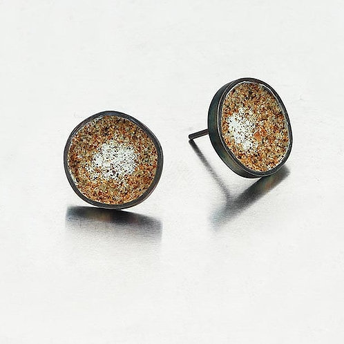Sand Silver Mini Earrings