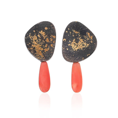 In There Earrings with Coral