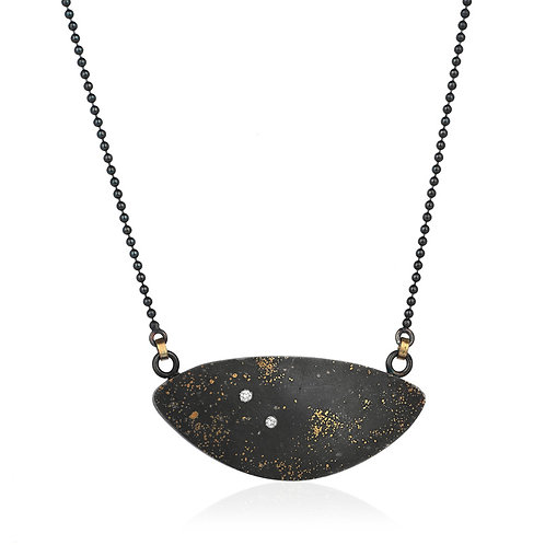 Cosmos Pendant Pure Gold, Sterling Silver and Diamond
