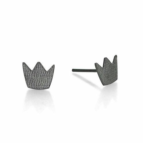 Little Crown Earrings Sterling Silver