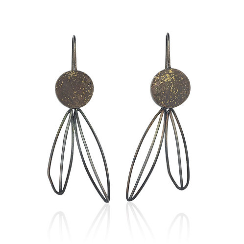 Silver and 24K Gold Earrings