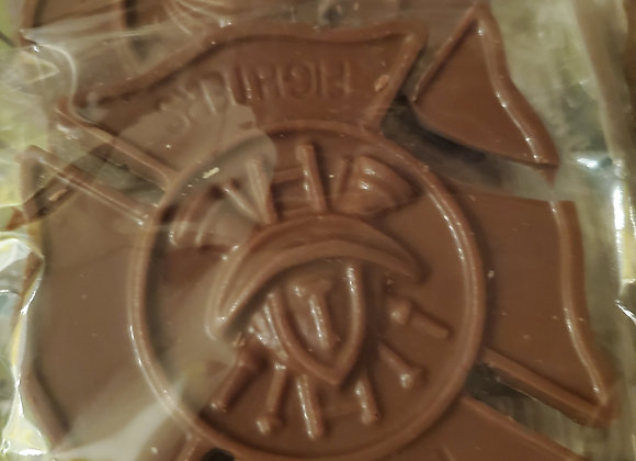 First Responders Milk Chocolate Fire Chief Badge