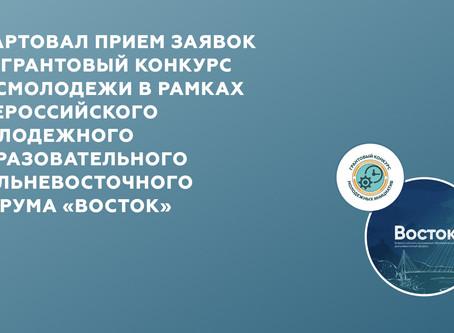 Всероссийского молодежного образовательного Дальневосточного форума «Восток»