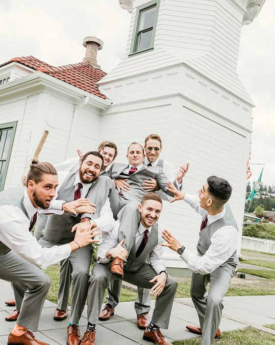 Every groom needs a good support system