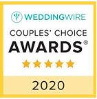 Weddin Wire Couple's Choice Award Winner 2020