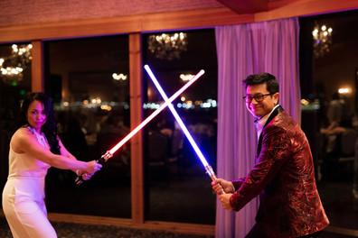 Star Wars battle to open the dancefloor