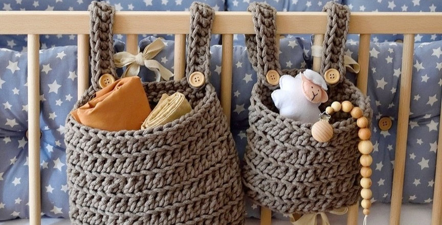 Baskets for the baby crib