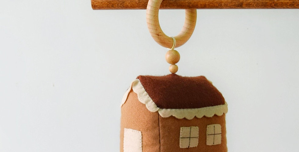 """Teether-rattle """"Warm House """""""