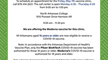 Vaccine Clinic This Friday, May 7