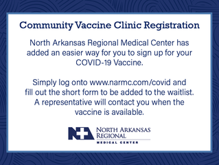 Register for the Community Vaccine Clinic