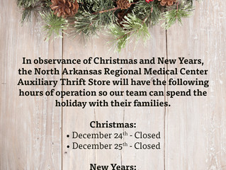 Auxiliary Thrift Store Holiday Hours