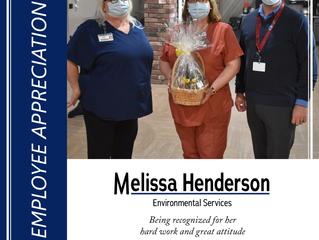 Congrats Melissa!