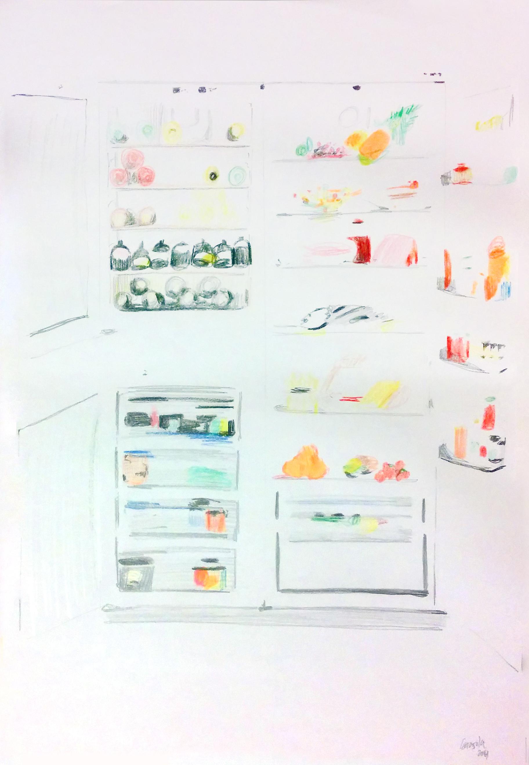 descortesia I, 42 x 29, rotuladores y lapices de color papel, 2014.jpg