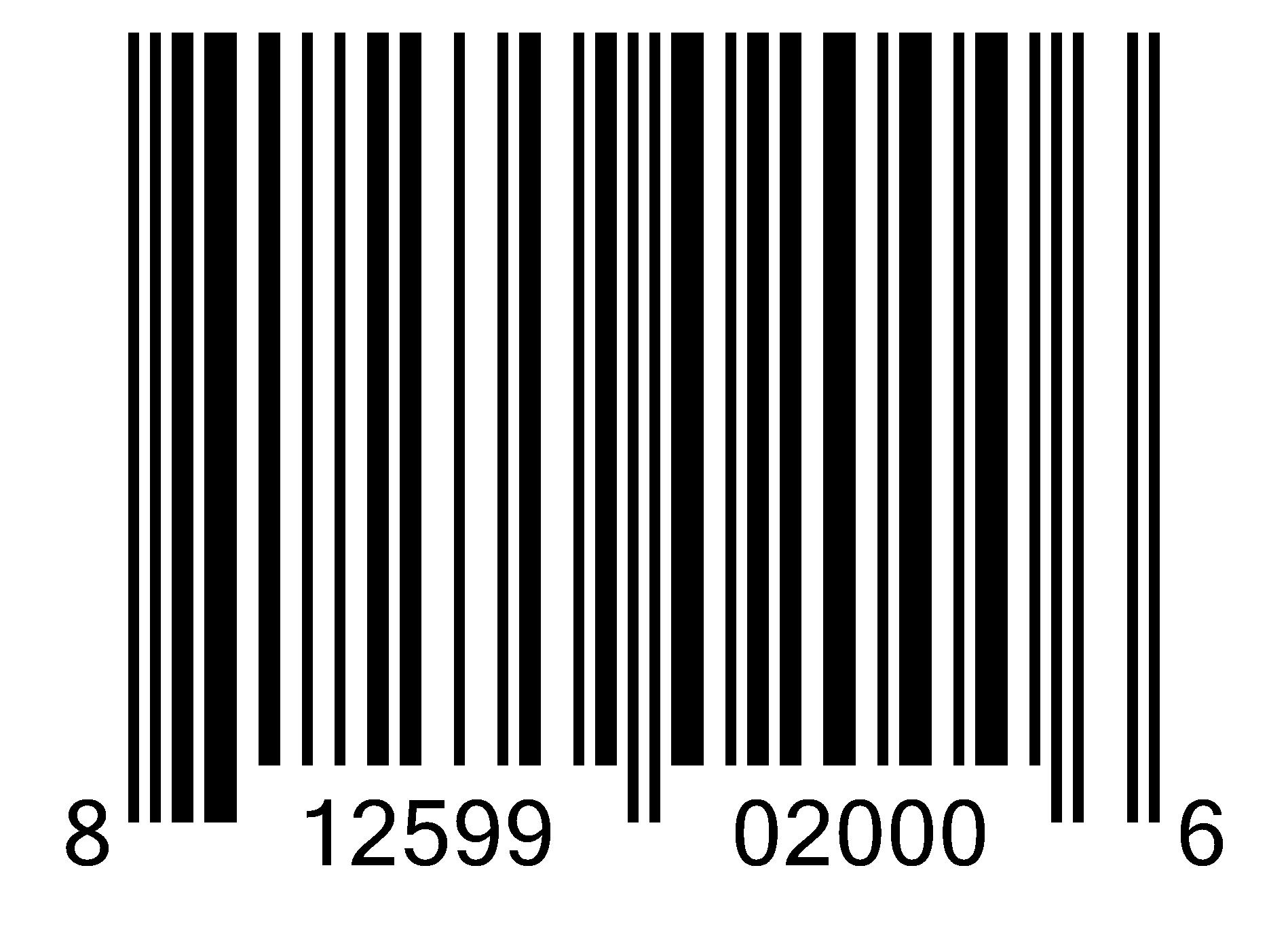 BV2 00812599020006 UPC-A SST1