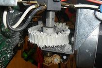 inside garage door opener gears shredded