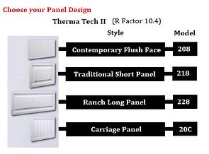 Therma Tech II - Steel garage PANELS OPT