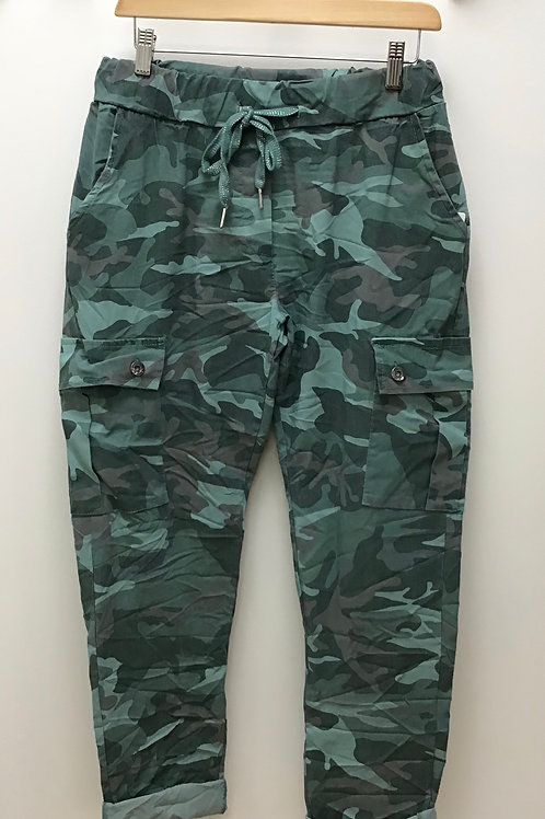 Camo Magic Cargo Trousers With Pockets