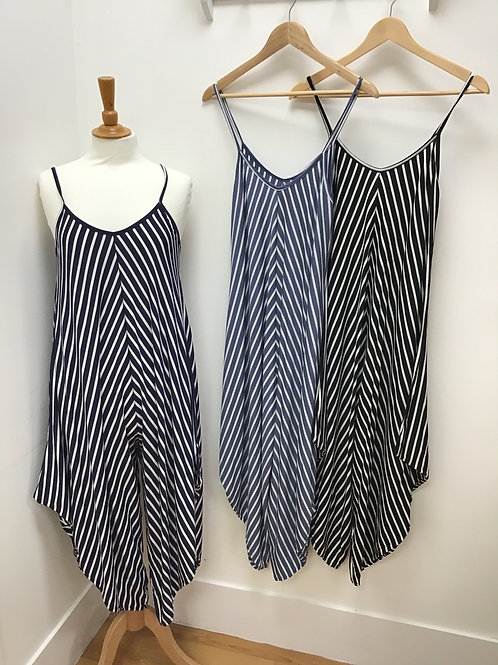 Strappy Andy Pandy Strappy Striped Jumpsuit