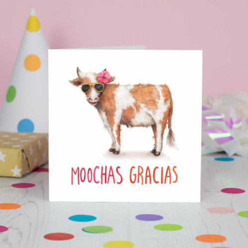 Moochas Gracias Greeting Card