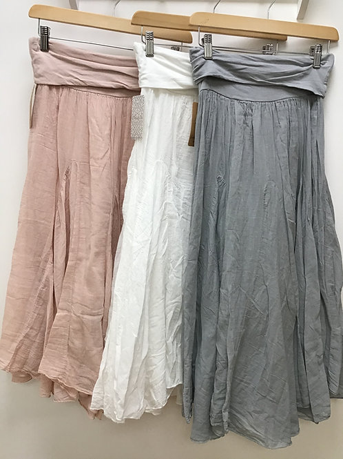 Cotton Lined Floaty Skirt