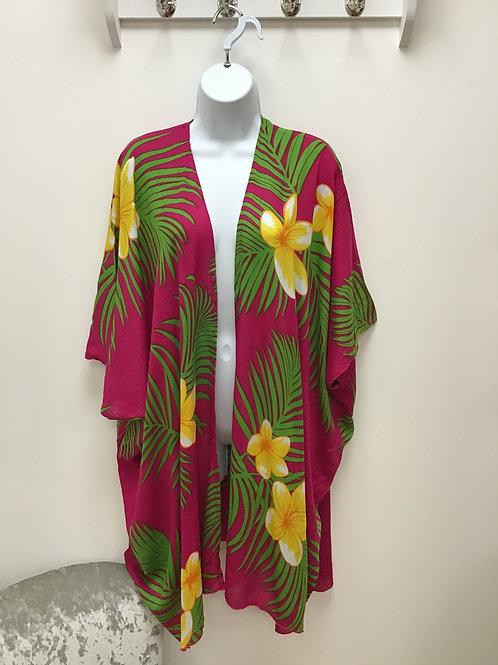 Dark Pink Beach Wrap (Kimono)