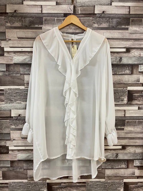 Chiffon oversized tunic blouse