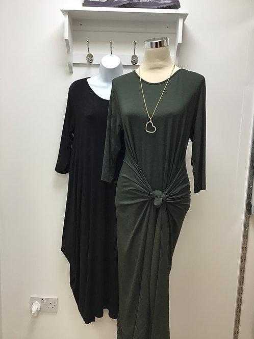 Plain 3/4 Sleeve Parachute Dress