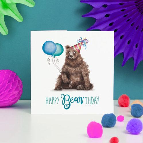 Happy Bearthday Greeting Card