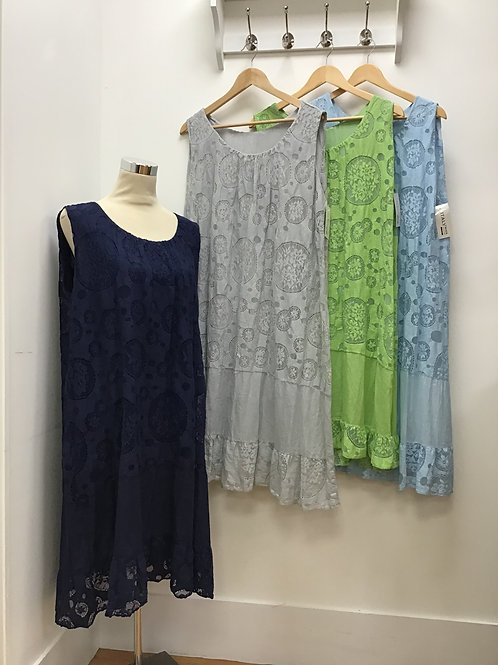 Italian Two Layered Flared Dress