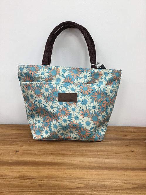 Pale Blue Daisy Waterproof Bag