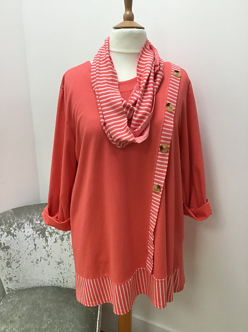 Tunic top with scarf