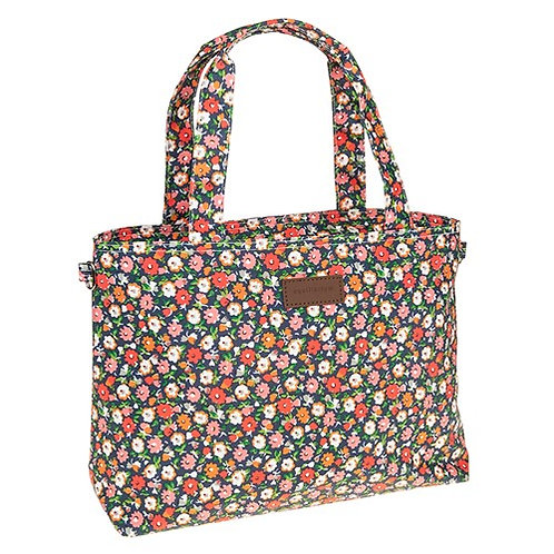 Ditsy floral oil cloth bag