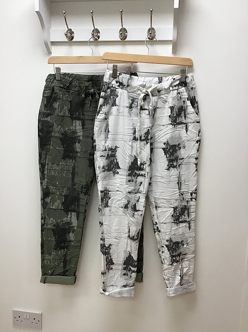 Abstract Print Magic Trousers