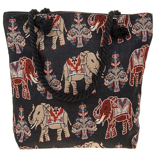Elephant tote bag black