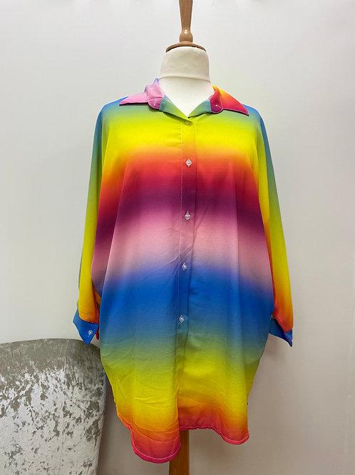 Oversized Rainbow shirt