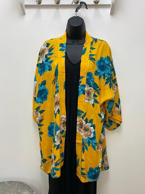 Yellow and Teal Kimono