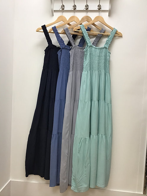 Elasticated Maxi Dress