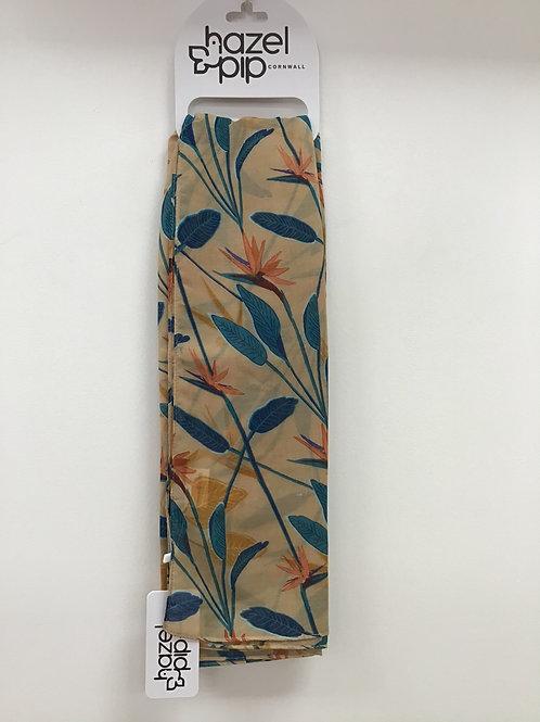 Scarf- Paradise Flower Orange